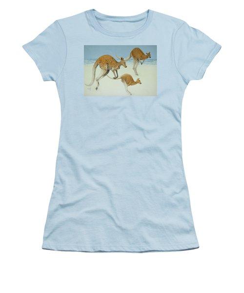 Leaping Ahead Women's T-Shirt (Junior Cut) by Pat Scott