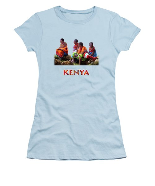 Maasai Women Women's T-Shirt (Junior Cut) by Anthony Mwangi