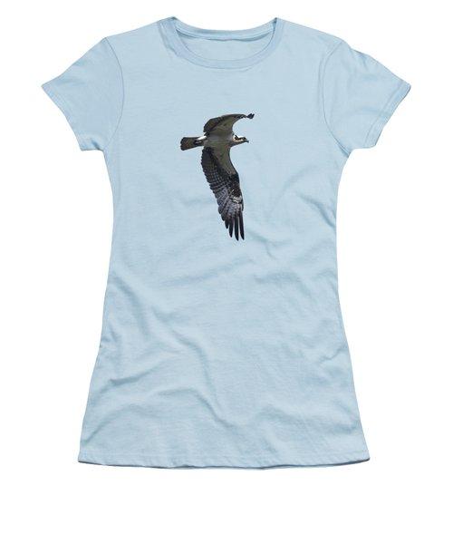 Osprey In Flight 2 Women's T-Shirt (Junior Cut) by Priscilla Burgers