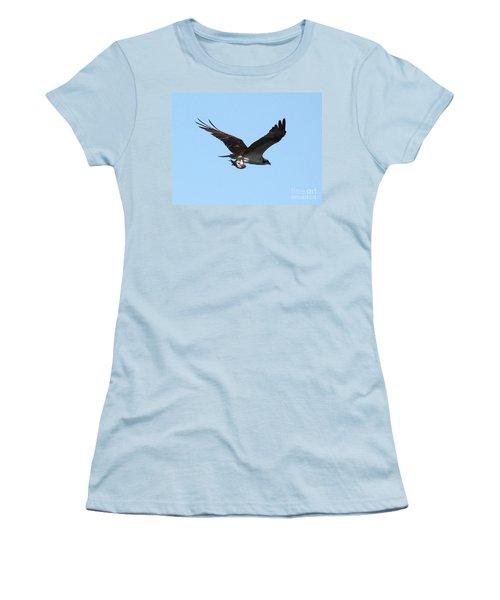 Osprey With Fish Women's T-Shirt (Junior Cut) by Carol Groenen