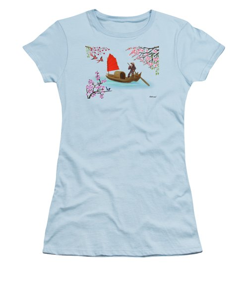 Peaceful Journey Women's T-Shirt (Junior Cut) by Glenn Holbrook