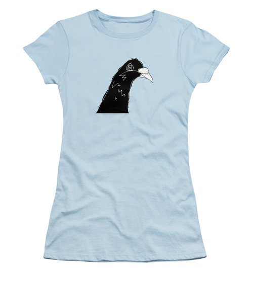 Pigeon Women's T-Shirt (Junior Cut) by Matt Mawson