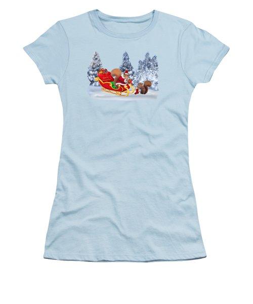 Santa's Little Helper Women's T-Shirt (Junior Cut) by Glenn Holbrook
