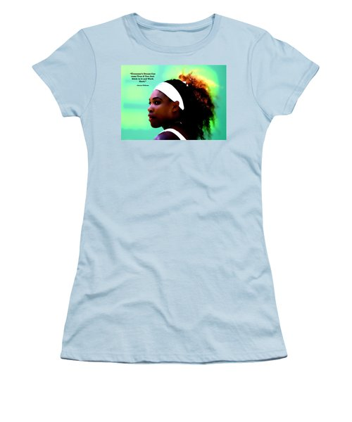 Serena Williams Motivational Quote 1a Women's T-Shirt (Junior Cut) by Brian Reaves