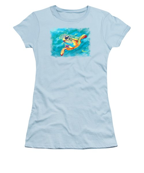 Slow Ride Women's T-Shirt (Junior Cut) by Kevin Putman