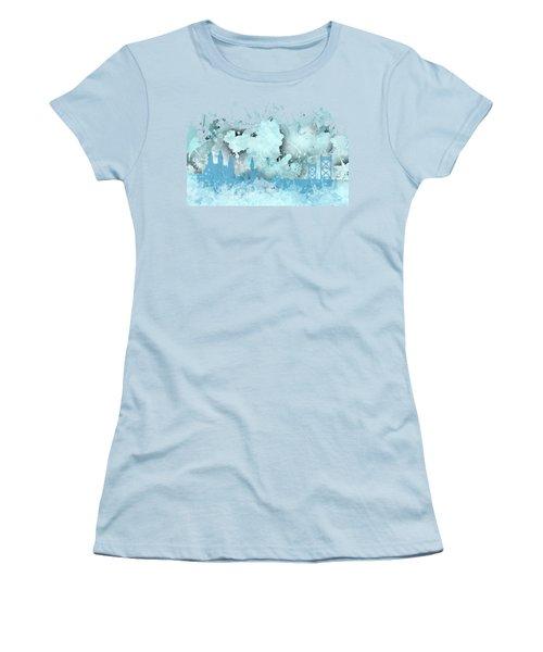Smudge Philadelphia Skylines Women's T-Shirt (Junior Cut) by Alberto RuiZ