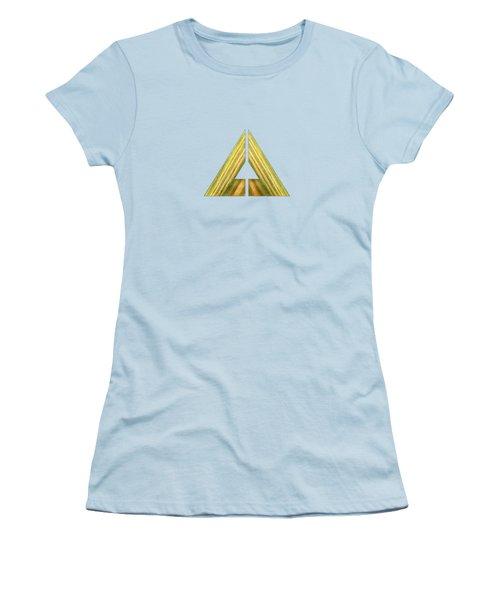 Split Triangle Green Women's T-Shirt (Junior Cut) by YoPedro