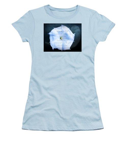 The Last Trumpet - Verse Women's T-Shirt (Junior Cut) by Anita Faye