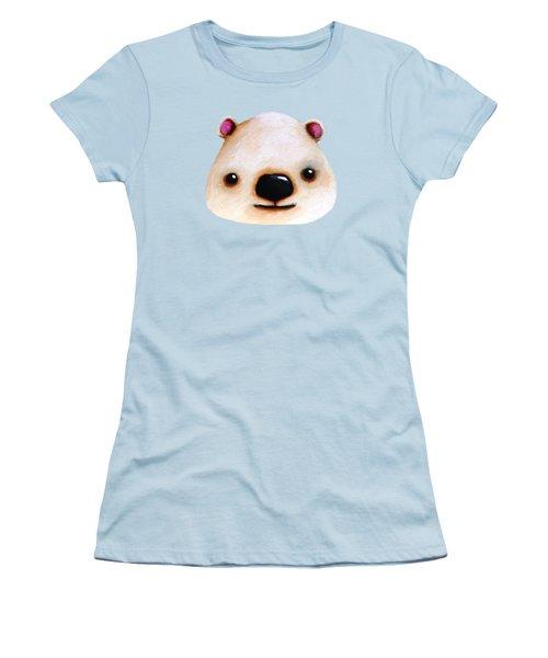 The Polar Bear Women's T-Shirt (Junior Cut) by Lucia Stewart
