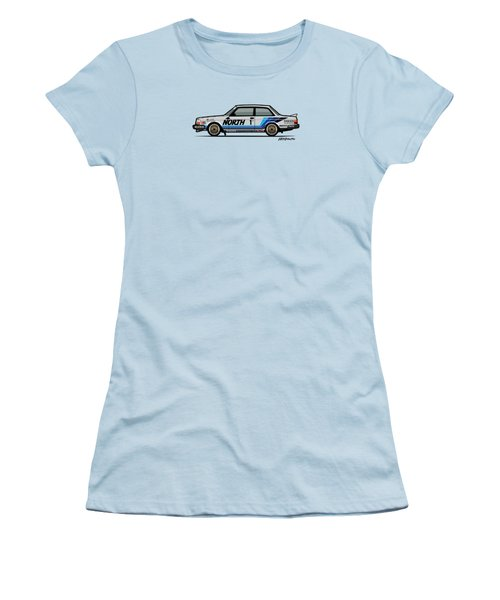 Volvo 240 242 Turbo Group A Homologation Race Car Women's T-Shirt (Junior Cut) by Monkey Crisis On Mars