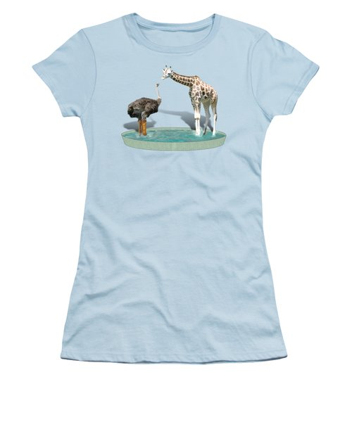 Wading Pool Women's T-Shirt (Junior Cut) by Gravityx9  Designs