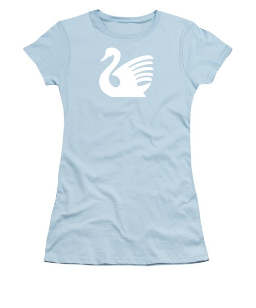 White Swan Women's T-Shirt (Junior Cut) by Maria Astedt
