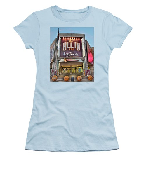 World Champion Cleveland Cavaliers Women's T-Shirt (Junior Cut) by Frozen in Time Fine Art Photography