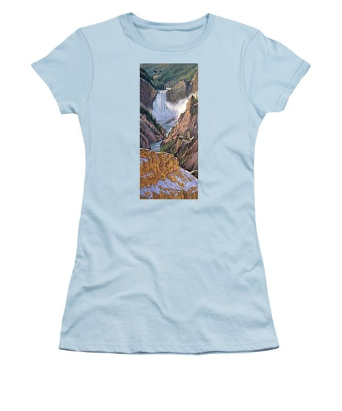 Yellowstone Canyon-osprey Women's T-Shirt (Junior Cut) by Paul Krapf