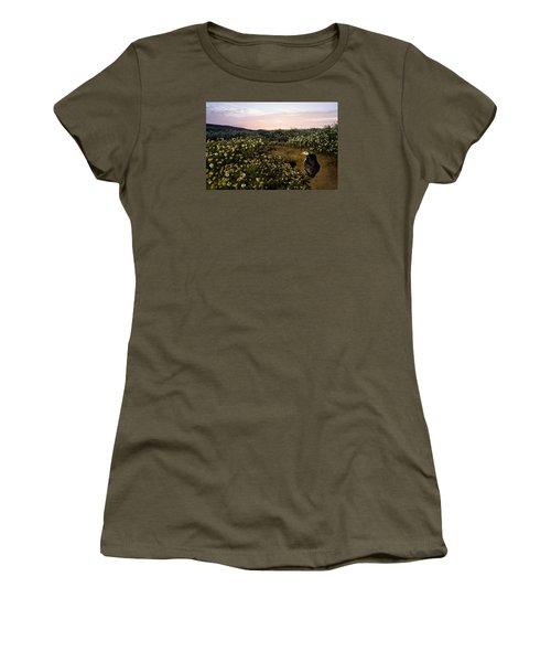 Atlantic Puffin At Burrow Skomer Island Women's T-Shirt (Junior Cut) by Sebastian Kennerknecht