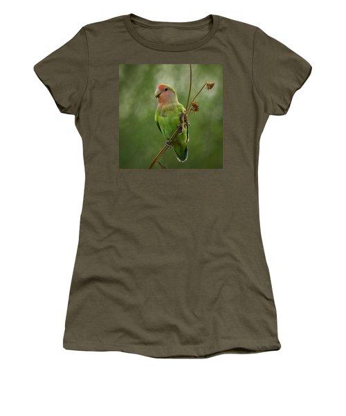 Lovely Little Lovebird  Women's T-Shirt (Junior Cut) by Saija  Lehtonen