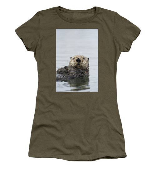 Sea Otter Alaska Women's T-Shirt (Junior Cut) by Michael Quinton