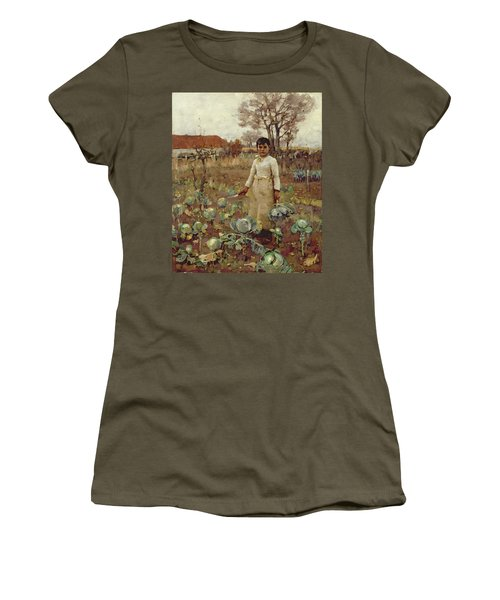 A Hinds Daughter, 1883 Oil On Canvas Women's T-Shirt (Junior Cut) by Sir James Guthrie