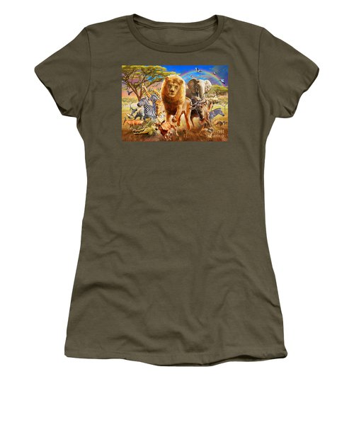 African Stampede Women's T-Shirt (Junior Cut) by Adrian Chesterman