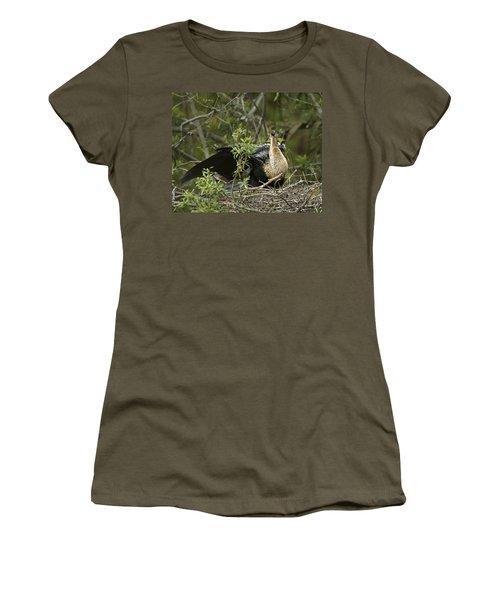 Anhinga Mama Women's T-Shirt (Junior Cut) by Phill Doherty