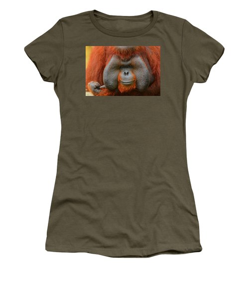 Bornean Orangutan Women's T-Shirt (Junior Cut) by Lourry Legarde