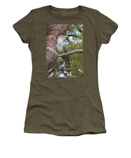 Channel-billed Cuckoo Fledgling Women's T-Shirt (Junior Cut) by Martin Willis
