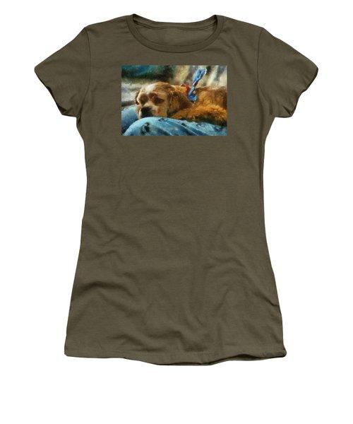 Cocker Spaniel Photo Art 07 Women's T-Shirt (Junior Cut) by Thomas Woolworth