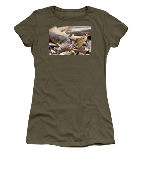Copperhead In The Wild Women's T-Shirt (Junior Cut) by Betsy Knapp