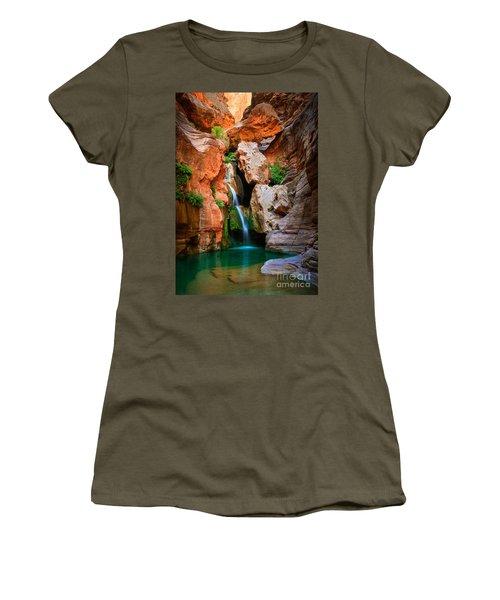 Elves Chasm Women's T-Shirt (Junior Cut) by Inge Johnsson