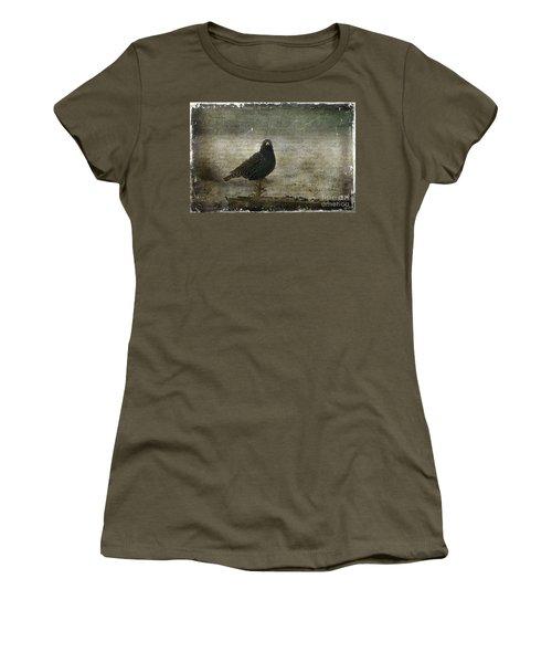 European Starling Women's T-Shirt (Junior Cut) by Cindi Ressler
