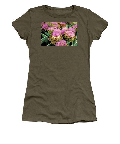Germany Aachen Munsterplatz Artichoke Flowers Women's T-Shirt (Junior Cut) by Anonymous