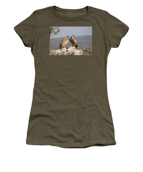Griffon Vulture Pair Extremadura Spain Women's T-Shirt (Junior Cut) by Gerard de Hoog