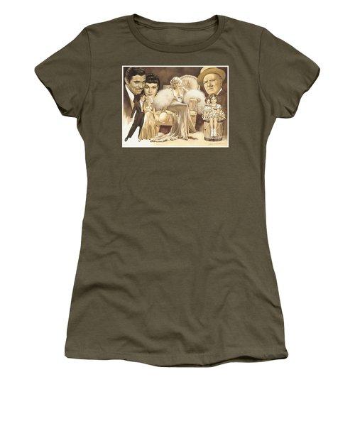 Hollywoods Golden Era Women's T-Shirt (Junior Cut) by Dick Bobnick