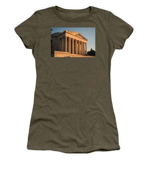 Jefferson Memorial Sunset Women's T-Shirt (Junior Cut) by Steve Gadomski