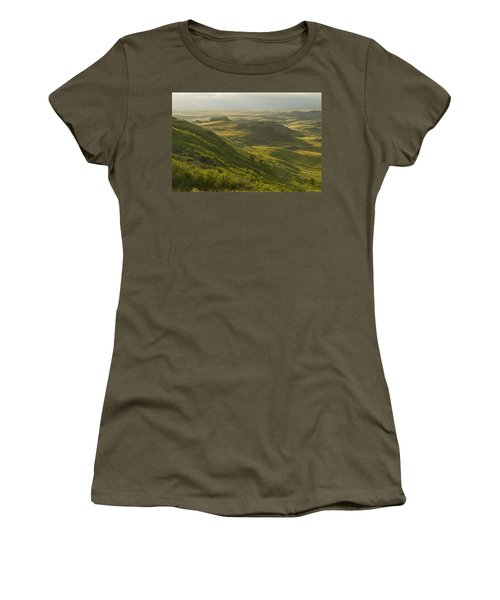 Killdeer Badlands In East Block Of Women's T-Shirt (Junior Cut) by Dave Reede