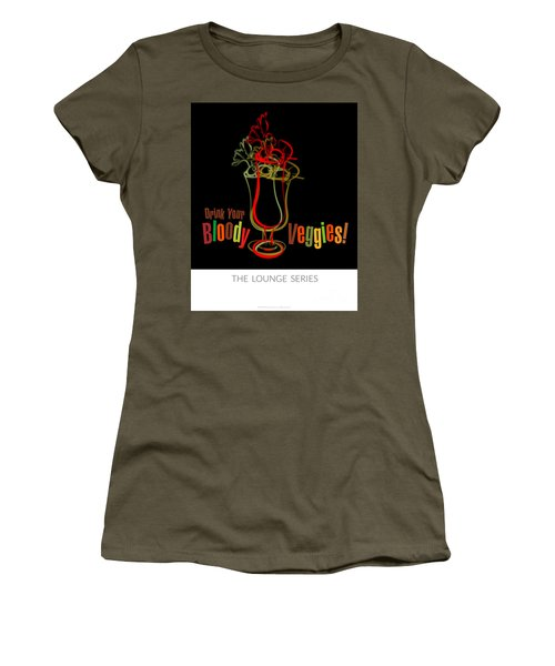 Lounge Series - Drink Your Bloody Veggies Women's T-Shirt (Junior Cut) by Mary Machare
