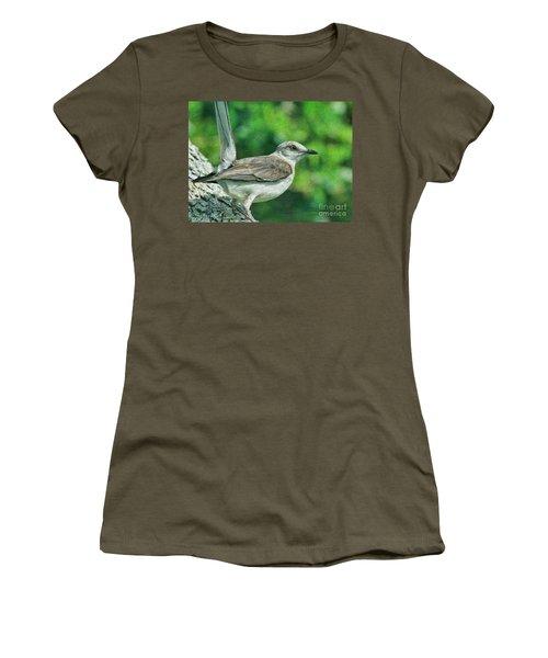 Mockingbird Pose Women's T-Shirt (Junior Cut) by Deborah Benoit