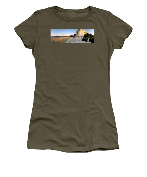 Monument At The Riverside, Jefferson Women's T-Shirt (Junior Cut) by Panoramic Images