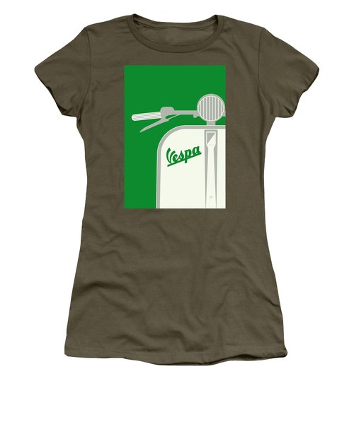 My Vespa - From Italy With Love - Green Women's T-Shirt (Junior Cut) by Chungkong Art