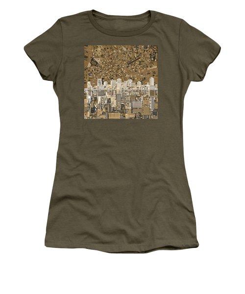 Nashville Skyline Abstract 2 Women's T-Shirt (Junior Cut) by Bekim Art