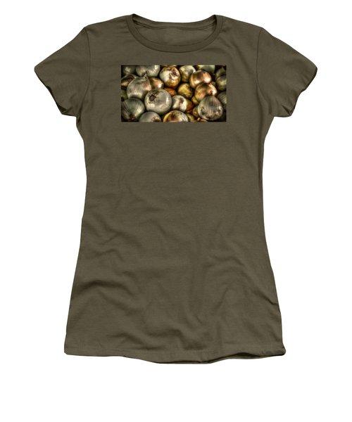 Onions Women's T-Shirt (Junior Cut) by David Morefield