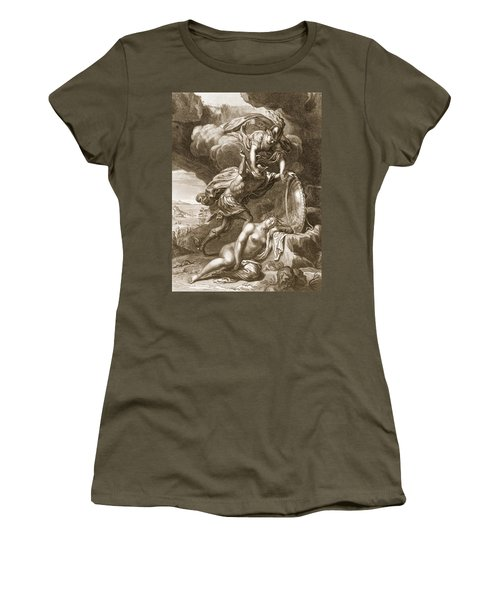 Perseus Cuts Off Medusas Head, 1731 Women's T-Shirt (Junior Cut) by Bernard Picart