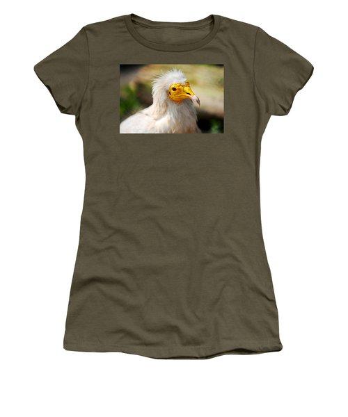 Pharaoh Chicken. Egyptian Vulture Women's T-Shirt (Junior Cut) by Jenny Rainbow