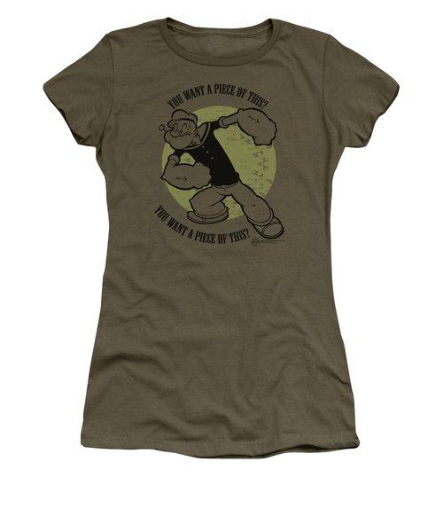 Popeye - You Want A Piece Women's T-Shirt (Junior Cut) by Brand A