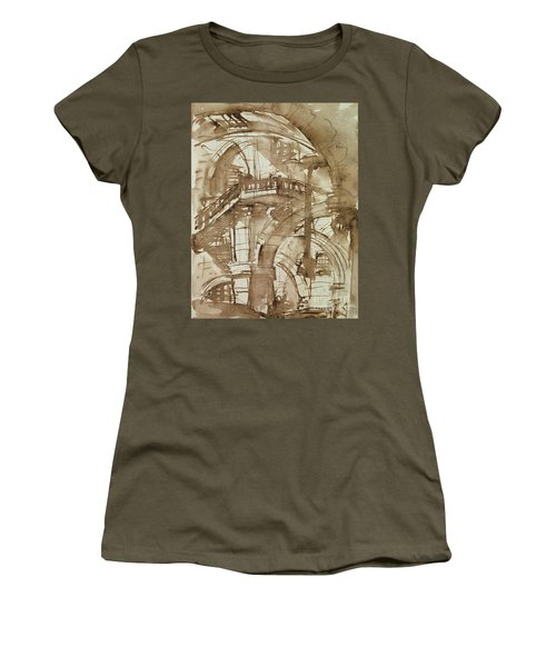 Roman Prison Women's T-Shirt (Junior Cut) by Giovanni Battista Piranesi