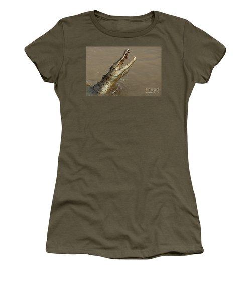 Salt Water Crocodile Australia Women's T-Shirt (Junior Cut) by Bob Christopher