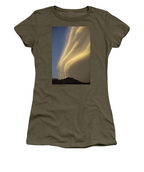 Sunset On Storm Clouds Near Mt Cook Women's T-Shirt (Junior Cut) by Ian Whitehouse
