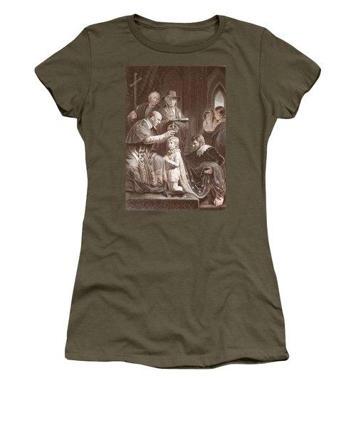 The Coronation Of Henry Vi, Engraved Women's T-Shirt (Junior Cut) by John Opie