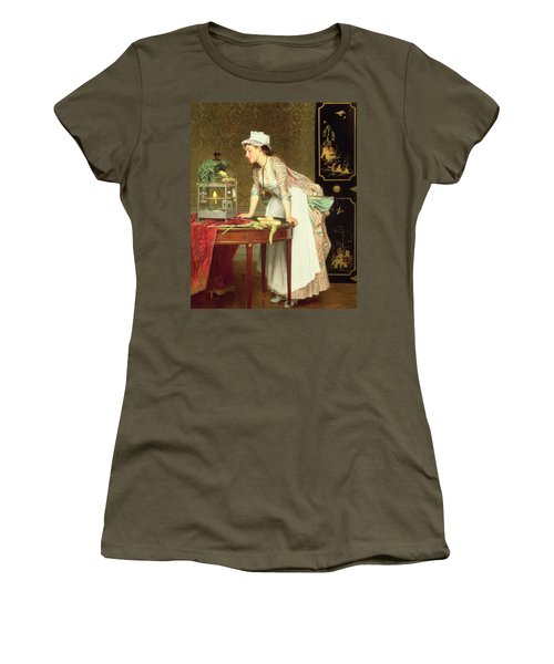 The Yellow Canaries Women's T-Shirt (Junior Cut) by Joseph Caraud