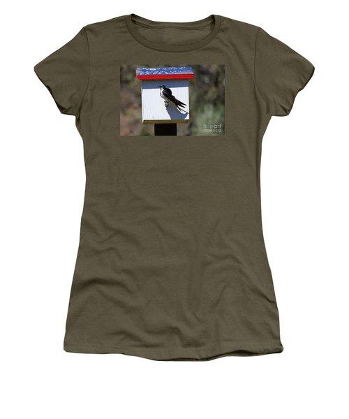 Tree Swallow Home Women's T-Shirt (Junior Cut) by Mike  Dawson